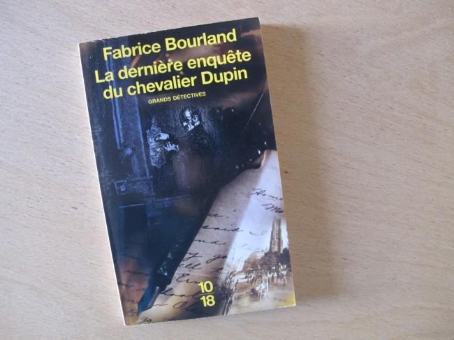 livre fabrice bourland enquete chevalier dupin