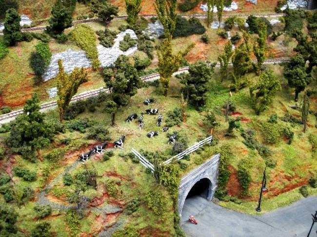 maquette circuit train modèle réduit milan