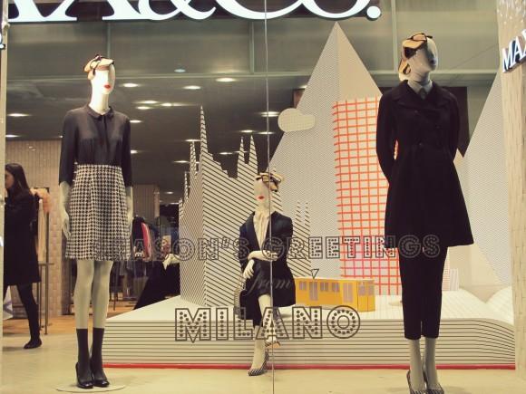 vitrine Noel max&co milano 1