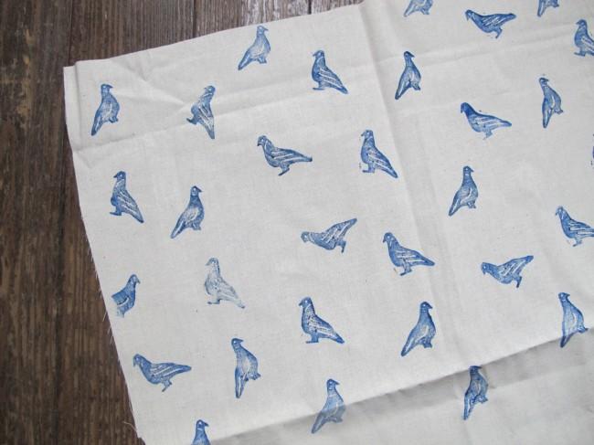 tampon diy pigeon textile