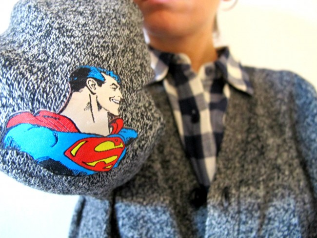 customiser coudes pull superman diy