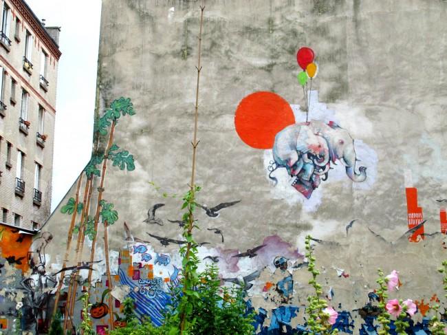 street art belleville paris