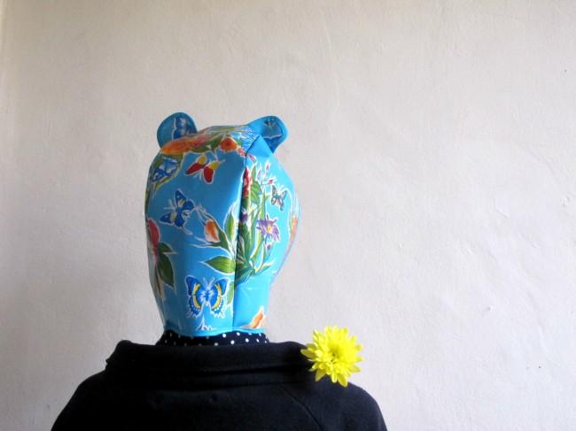 DIY chapeau toile cirée pluie souris