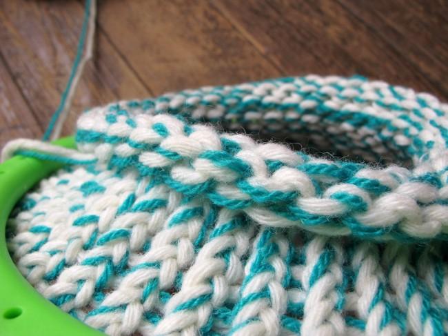 bonnet au tricotin