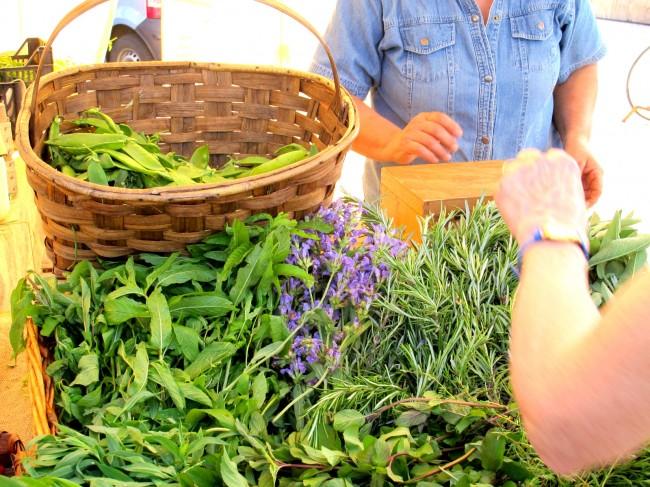 alimentation saine marché bio