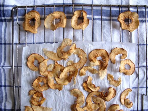 pommes séchées au four