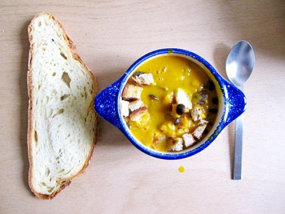 soupe champignon potiron