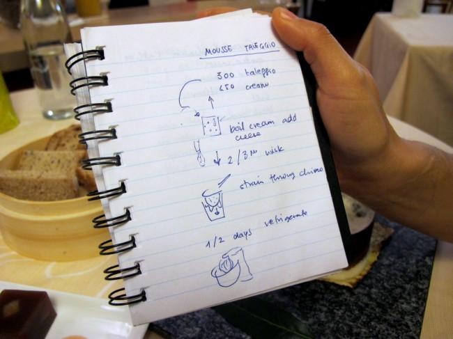 carnet de recettes