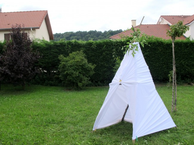 home made tipi