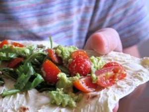 tortillas guacamole mexicain