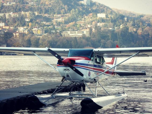 vol en hydravion région des lacs italie