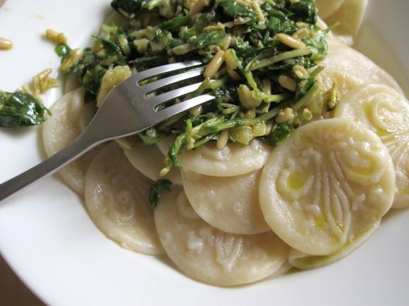 recette corzetti italiens au pesto