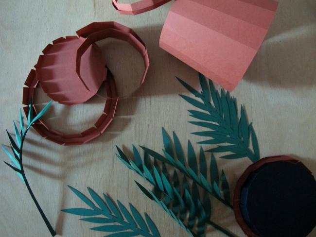 plante palmier papier DIY