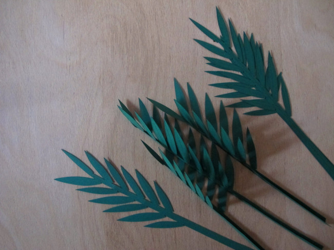 set design papier diy plante