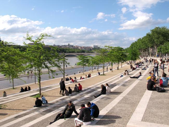 les quais Rhone Lyon