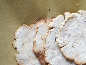 crackers au sésame fait maison