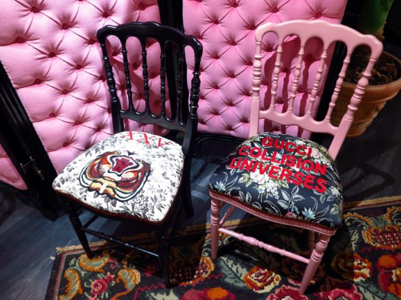 chaise gucci decor milan