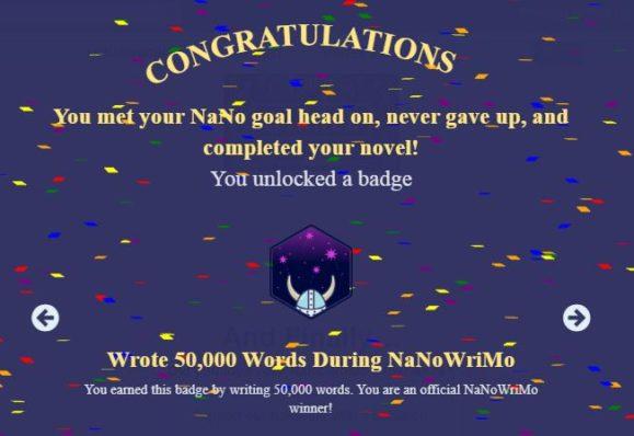 remporter challenge nanowrimo