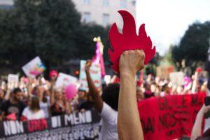 manifestation féministe italie